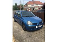 Renault clio 1.2 MOT MARCH 2018 ONLY 69k MILES!! 2 owners immaculate