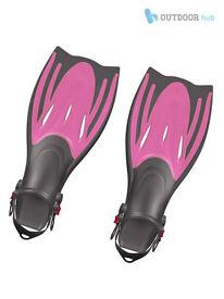 Typhoon T-Jet Kids Flippers Children Adjustable Fins Childs Swimming Snorkelling Size 1-4