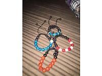 Shamballa bracelets and ring.