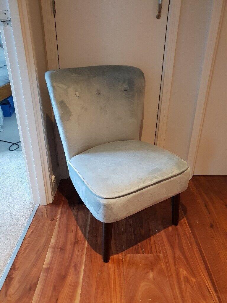 Blue Velvet Chair For Sale In Tower Hamlets London Gumtree