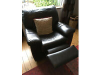 3 seater leather sofa and recliner