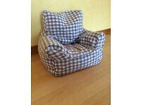 Child's beanbag chair