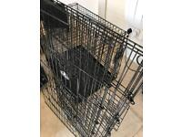 Large Dog cage folding two door crate with extensions