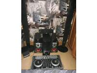 Dj mixer and surround sound speakers subwoofers