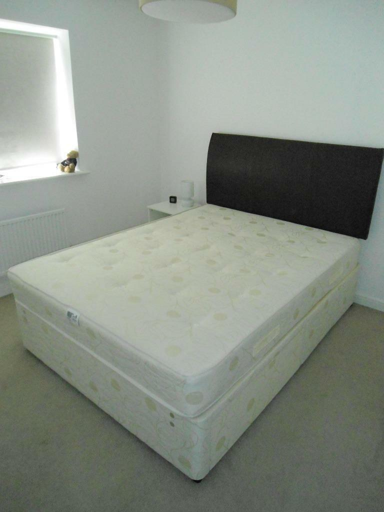King size divan bed with headboard in musselburgh east for King size double divan bed
