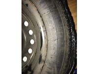 Caravan spare wheel 175/65R14C never used In Rubber Storage Cover