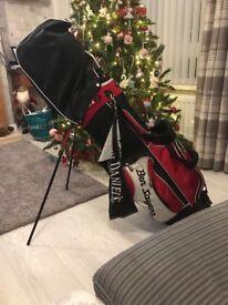 Ben sayers golf bag and iron clubs