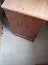 Pine bedside cabinets Look like new .