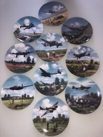 World war airplane limited edition plate