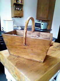 pine wood vegetable rack kitchen basket