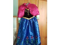 Disney Frozen Anna dress with cape age 4-5 years