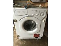 Integrated Hotpoint washing machine 5kg