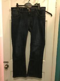 Women's dark blue jeans size 16