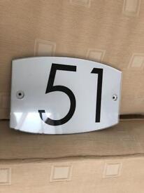 Door plague number 51