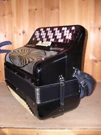 Scandalli 409/2, 4 Voice, Musette Tuned, 5 Row Chromatic C System, 120 Bass Accordion.