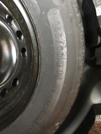 Nissan Qashqai space saver spare wheel and tyre