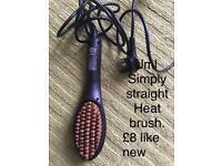 Jml simply straight heated hairbrush like new!