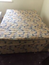 Double bed with mattress in good condition