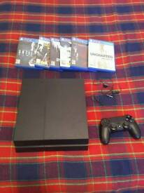 PS4 Console and Seven Games
