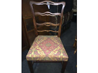 Lovely Antique Mahogany Ribbon Back Chippendale Style Desk/Side Chair
