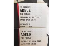 Adele Tickets x 2 for 1st July 2017 Block 509