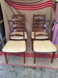 Set of 4 (four) Teak G plan dining chairs Lovely danish design
