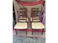 Set of 4 (four) Teak G plan dining chairs Lovely danish design