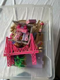 Pink fairy town train track