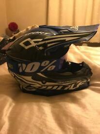 Motocross helmet and jersey XL