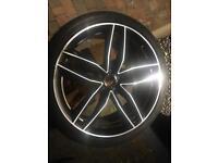 "GENUINE Audi Alloy wheel 21"" with good tyre"