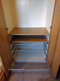 3x Ikea Pax Metal Basket drawers - Komplement Wardrobe