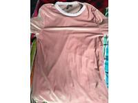 Pink velour t-shirt