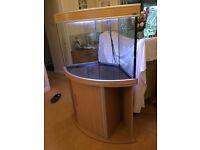 170 Litre Corner Fish Tank and Cabinet