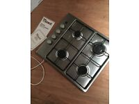 Integrated gas hob in full working condition