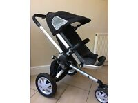 Quinny Travel System - Carrycot, stroller & car seat with accessories. Used and in good condition.