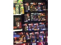Star Wars and marvel figures