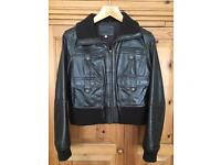 Marks & Spencer chocolate brown size 16 leather jacket