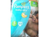 Size 5 pampers nappies