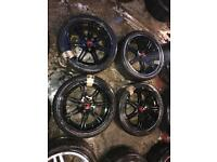 "17"" GENUINE HONDA CIVIC TYPE R ALLOY WHEELS SET OF 4"