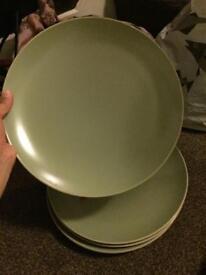 4 designer large plates bargain price