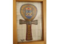 Hand painted ankh (meaning life) purchased in Egypt