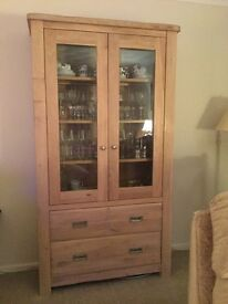 Willis & Gambier solid wood display cabinet etc