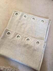 Dunelm mink eyelet curtains