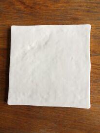 New Heckstream Rustic Alaskan White 13cmx13cm Ceramic Wall Tiles 15sqm