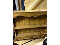 Antique wall mounted Welsh dresser.