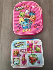 Shopkins Backpack and lunch bag