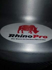 "12"" tornado box fan, 10"" tornado box fan & 12"" rhino pro carbon filter"
