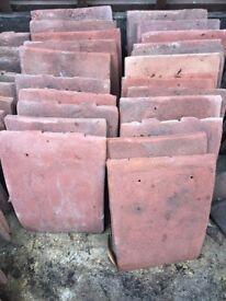 Antique red redland clay roof tiles 22 unused tiles- each measures 26 cm x 16cm