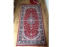 """BEAUTIFUL red Murat 2'7"""" X 4'11"""" rug mat carpet :) - victorian vintage art noble style - CAN DELIVER"""