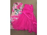 2 pink party dresses age 9-10 years